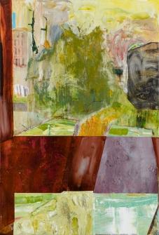 林奕維Lin, Yi-Wei,後院風景 Backyard Scenery,壓克力顏料,畫布 Acrylic on the canvas,140 x 95cm,2018