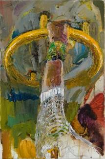 林奕維Lin, Yi-Wei,金色手環 Aureate Bracelet,壓克力顏料,畫布 Acrylic on the canvas,45 x 30cm,2018