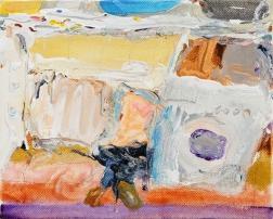 林奕維Lin, Yi-Wei,Schleudern(脫水)Schleudern(dehydration),壓克力顏料,畫布 Acrylic on the canvas,17.5 x 14cm,2018